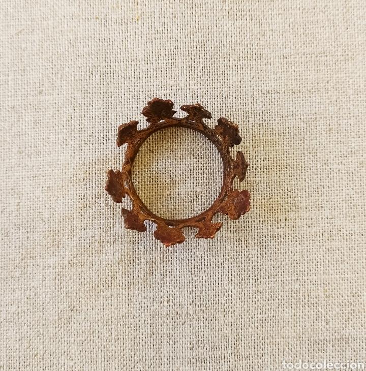 Antigüedades: Corona dorada para santo o virgen - Foto 4 - 245176135