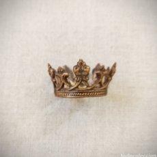 Antigüedades: CORONA DORADA PARA SANTO O VIRGEN. Lote 245176135