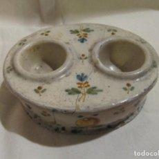 Antigüedades: ESPECIERO DE TALAVERA IMITANDO ALCORA S.XVIII - XIX. Lote 245179105