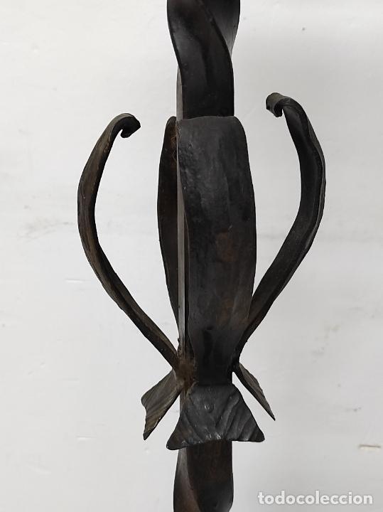 Antigüedades: Candelabro, Torchero - Hierro Forjado - Altura - 121 cm - Foto 8 - 245180000