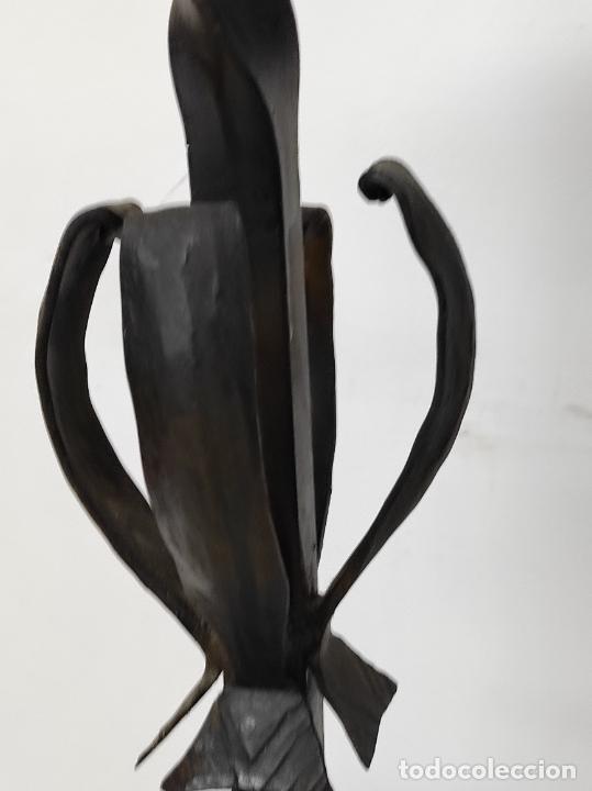 Antigüedades: Candelabro, Torchero - Hierro Forjado - Altura - 121 cm - Foto 9 - 245180000