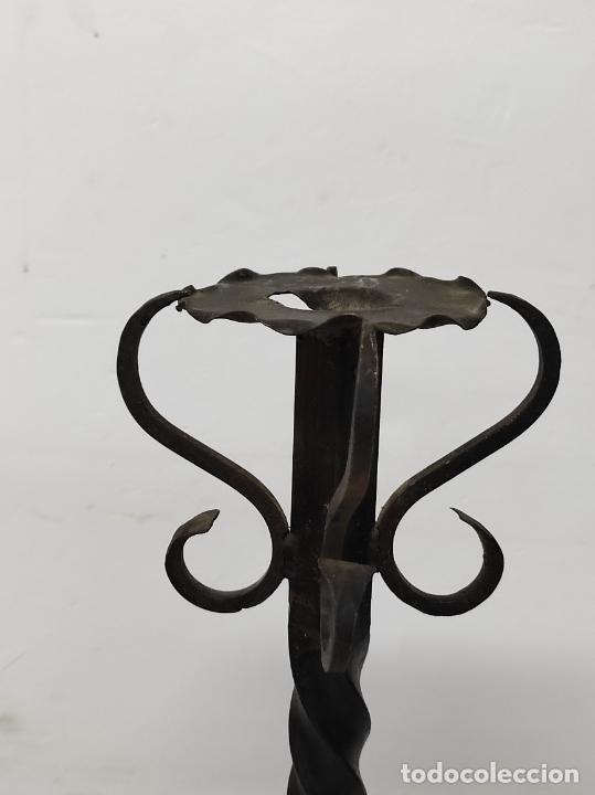 Antigüedades: Candelabro, Torchero - Hierro Forjado - Altura - 121 cm - Foto 17 - 245180000