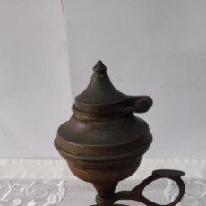 Antigüedades: LAMPARA BRONCE S.XIX O ANTERIOR. VER FOTOS Y DESCRIPCIÓN.. Lote 245184185