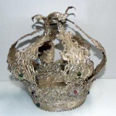 Antigüedades: CORONA PARA VIRGEN DE TAMAÑO NATURAL, PARA RESTAURAR VER FOTOS.W. Lote 245188995