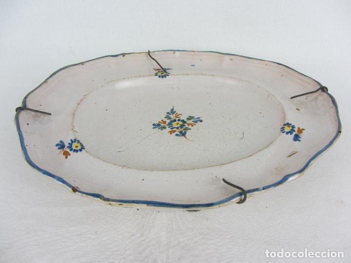 Antigüedades: Bandeja en cerámica polilobulada de Alcora - siglo XIX - Foto 2 - 245206265