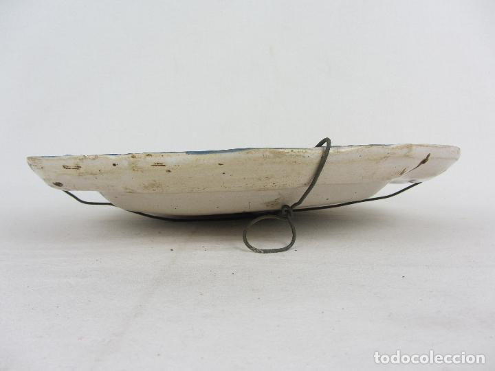 Antigüedades: Bandeja en cerámica polilobulada de Alcora - siglo XIX - Foto 3 - 245206265