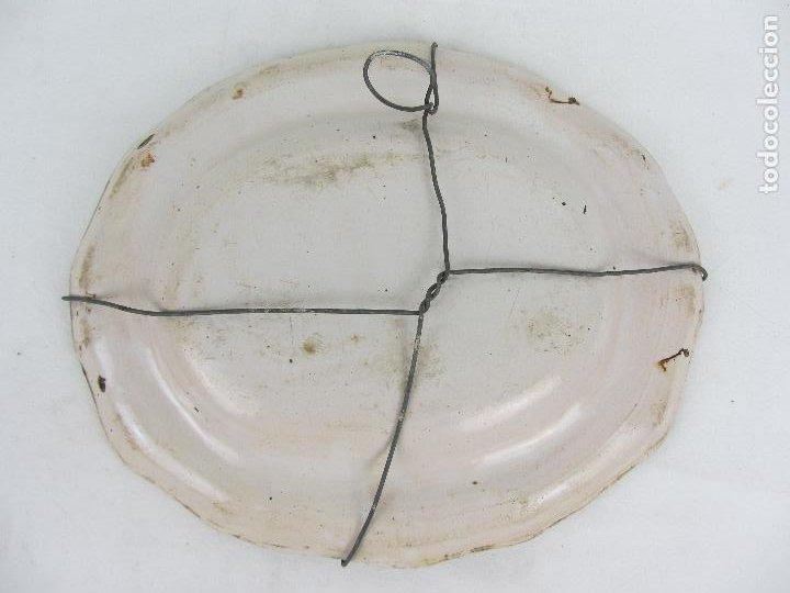 Antigüedades: Bandeja en cerámica polilobulada de Alcora - siglo XIX - Foto 4 - 245206265
