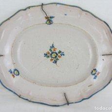 Antigüedades: BANDEJA EN CERÁMICA POLILOBULADA DE ALCORA - SIGLO XIX. Lote 245206265
