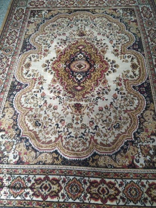 Antigüedades: Antigua alfombra de nudos de lana. Medidas 227 x 170 cm. - Foto 2 - 245216595