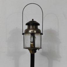 Antigüedades: LÁMPARA FAROL DE QUEROSENO - MARCA HASAG, ALEMANIA - FARO PARA INTERIOR DE MINA - ELECTRIFICADO. Lote 245237905