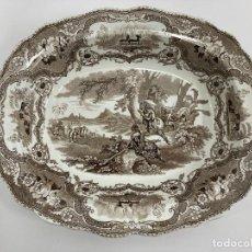 Antigüedades: BANDEJA LLEGADA COLÓN A AMERICA. WILLIAM ADAMS & SONS. COLUMBUS. STAFFORDSHIRE.. Lote 245252070