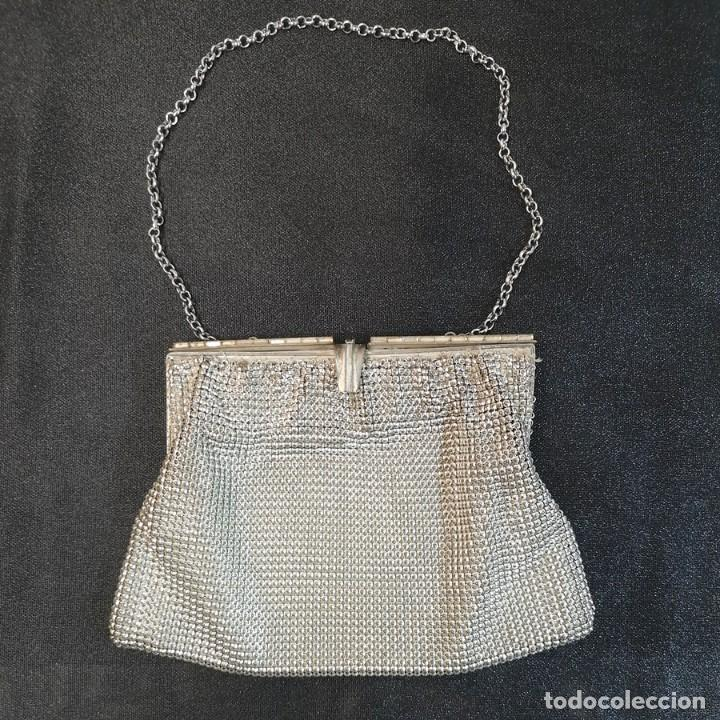 BOLSITO PLATEADO (Antigüedades - Moda - Bolsos Antiguos)
