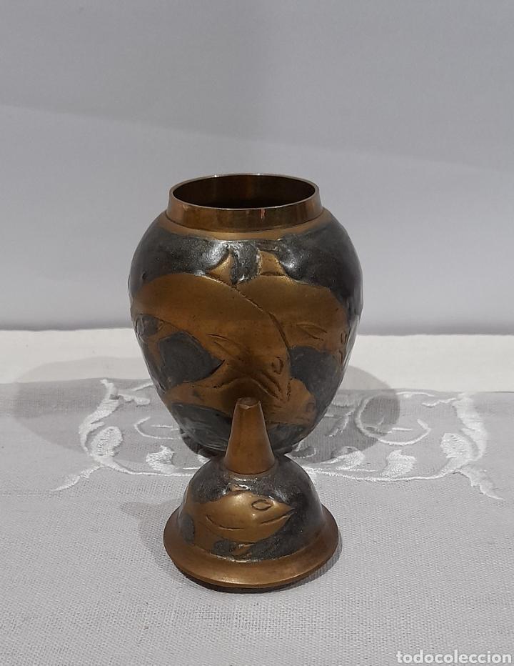 Antigüedades: Jarrón Antiguo de Bronce Esmaltado . Ver fotos. - Foto 4 - 245264550