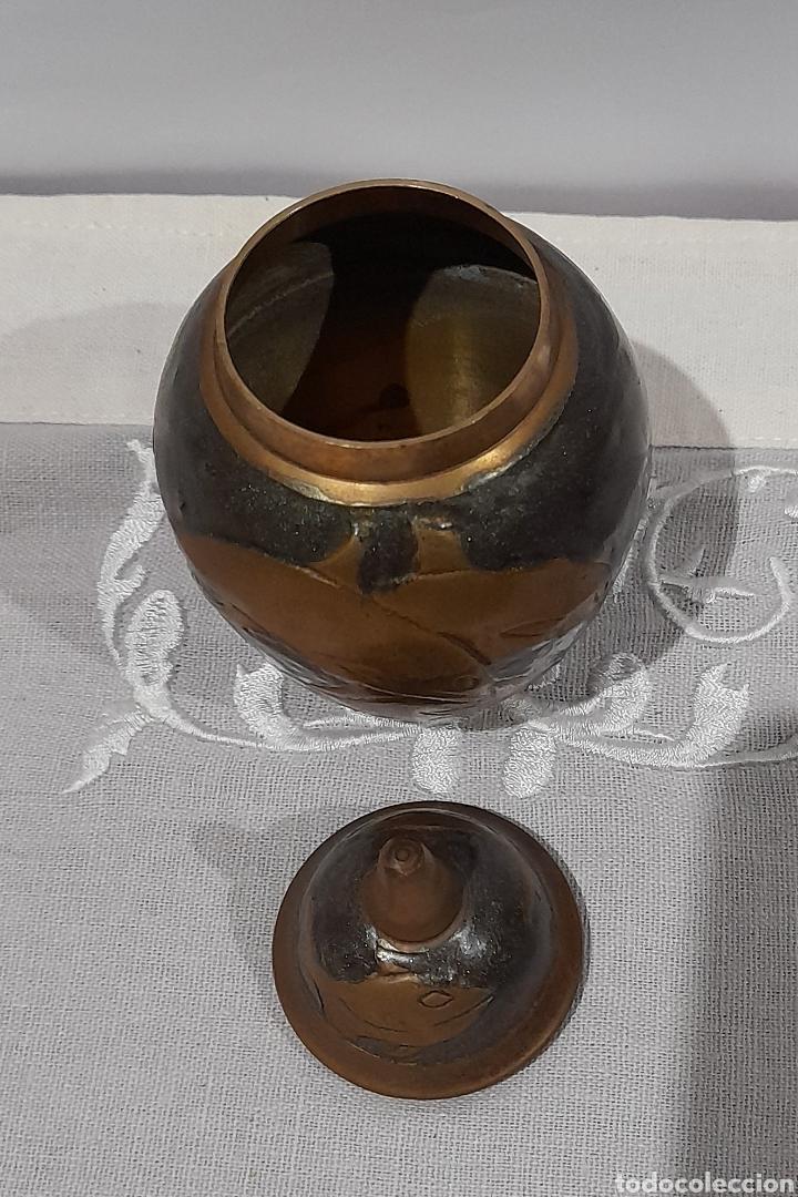 Antigüedades: Jarrón Antiguo de Bronce Esmaltado . Ver fotos. - Foto 5 - 245264550