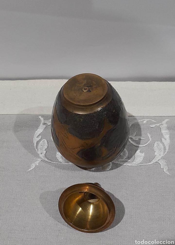 Antigüedades: Jarrón Antiguo de Bronce Esmaltado . Ver fotos. - Foto 6 - 245264550