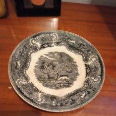 Antigüedades: PLATO DE CARTAGENA,CAZA DEL CIERVO. Lote 245270070