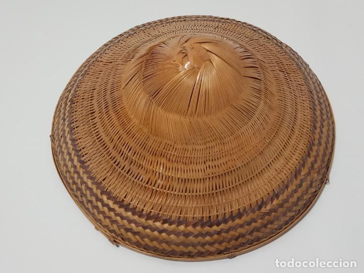 Antigüedades: SOMBRERO VIETNAMITA EN FIBRA VEGETAL - Foto 4 - 245279710