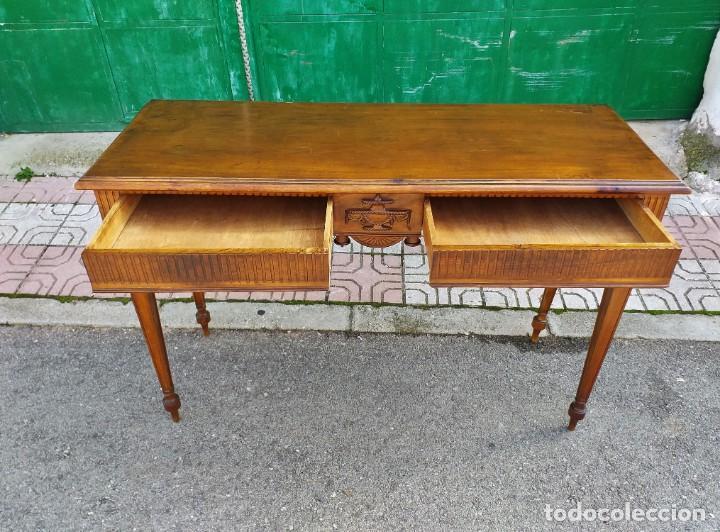 Antigüedades: Consola antigua estilo Luis XVI. Mesa auxiliar vintage estilo imperio modernista. - Foto 6 - 243883670