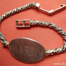 Antigüedades: ANTIGUA PULSERA DE PLATA . CON CONTRASTES. MUJER. MARIA. PESO: 19 GRAMOS.. Lote 245291865