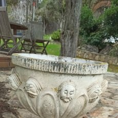 Antigüedades: MACETERO DE PIEDRA. Lote 245308525