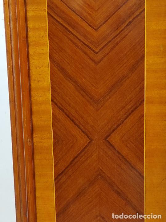 Antigüedades: Bonito Secreter Estilo Luis XV - Escritorio - Diferentes Maderas con Marquetería, Bronce y Mármol - Foto 28 - 245354475
