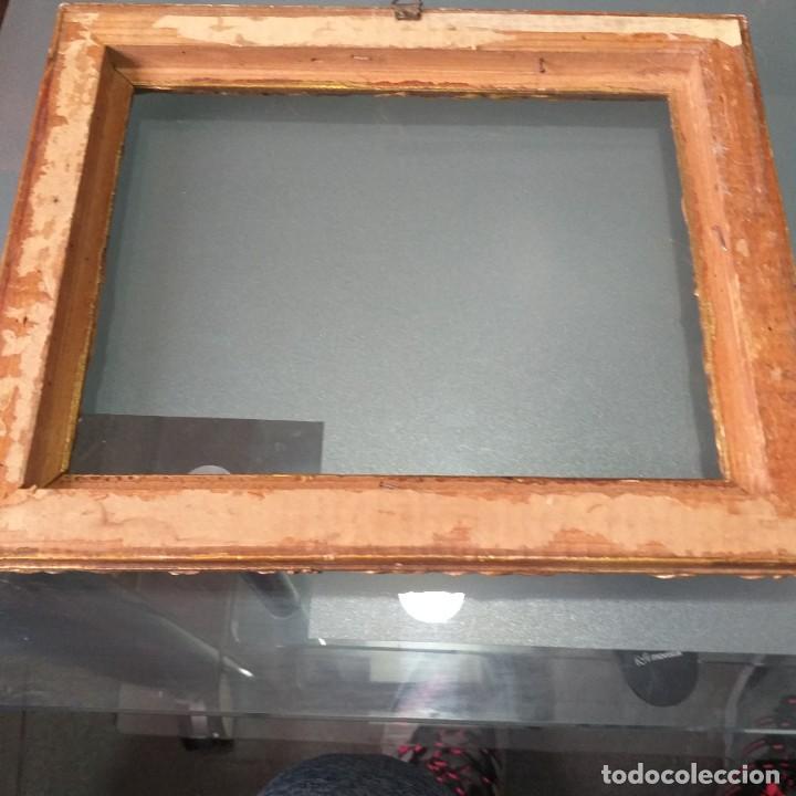 Antigüedades: Marco de madera dorada antiguo FIN DEL XIX - Foto 2 - 245366545