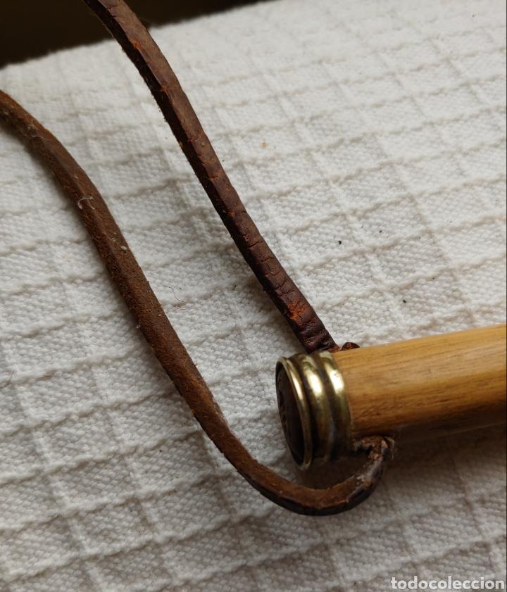 Antigüedades: Antigua fusta años 40 en madera y bronce/laton - Foto 3 - 245369680