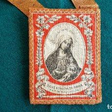 Antigüedades: ESCAPULARIO DULCE CORAZON DE MARIA Y SAGRADO CORAZON DE JESUS - RW. Lote 245369735