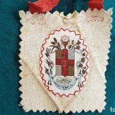 Antigüedades: ESCAPULARIO ADVENIAT REGNUM-TUUM APOSTOLADO DE LA ORACION PIO IX - RW. Lote 245370410