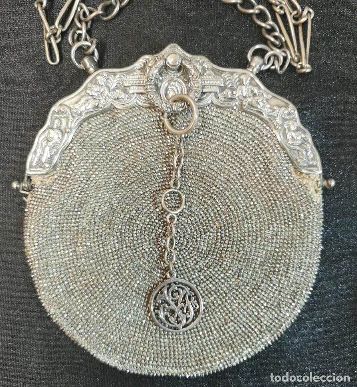 Antigüedades: Bolso Plateado - Foto 2 - 245373190