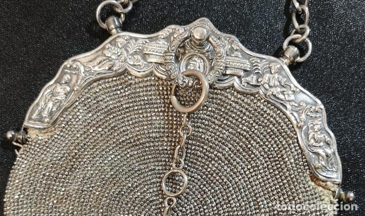 Antigüedades: Bolso Plateado - Foto 3 - 245373190