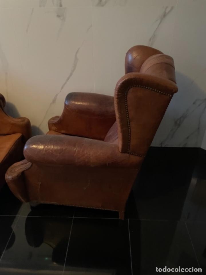 Antigüedades: Orejeros capitoné de muelles. - Foto 4 - 245403440