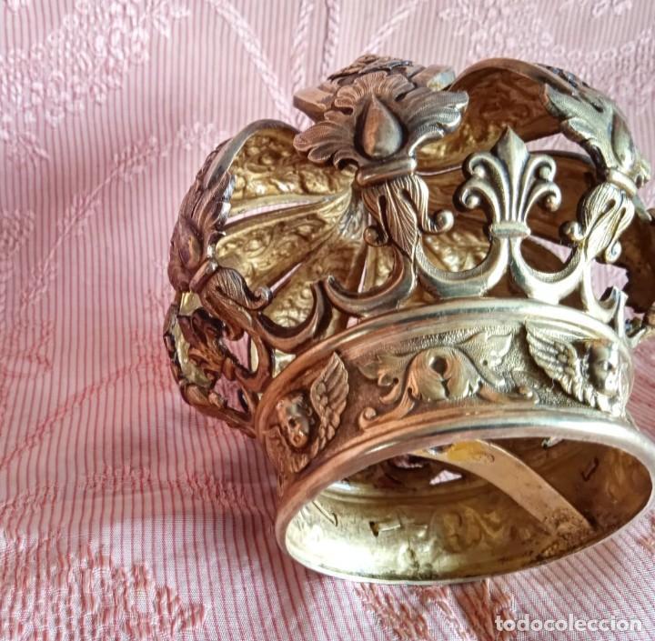 Antigüedades: Extraordinaria corona plata sobredorada para virgen. S. XVIII. Museal. Cap i pota, iglesia. - Foto 6 - 245411065