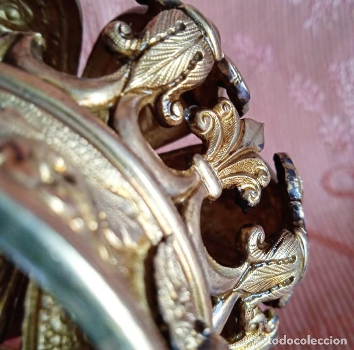 Antigüedades: Extraordinaria corona plata sobredorada para virgen. S. XVIII. Museal. Cap i pota, iglesia. - Foto 8 - 245411065