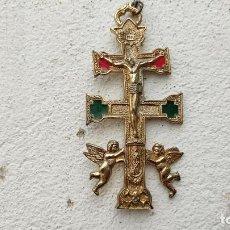 Antigüedades: CRUZ DE METAL. Lote 245431155