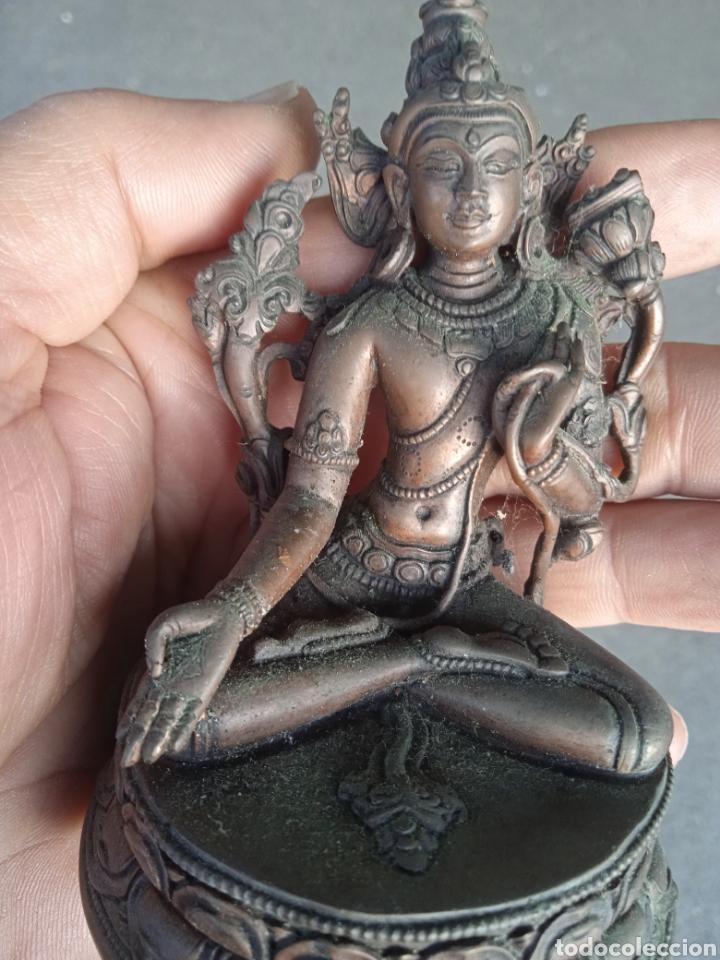 Antigüedades: Nepal diosa indu India Bronce preciosa figura muy antigua de diosa indu de origen NEPAL arte etnico - Foto 13 - 245445585