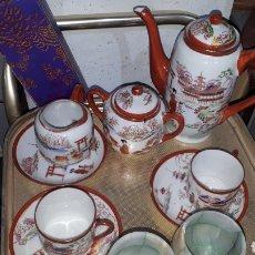 Antigüedades: ORIGINAL JUEGO DE CAFÉ O TÉ PARA DOS MADE IN JAPAN AÑOS 60 LEER DESCRIPCIÓN. Lote 243172810