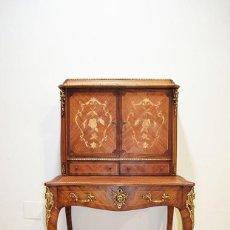 Antigüedades: ESCRITORIO ANTIGUO GABINETE CON MARQUETERIA. Lote 245467050