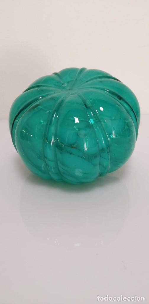 Antigüedades: Calabaza en cristal de murano turquesa - Foto 4 - 245488205