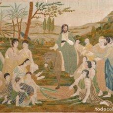Antigüedades: LA ENTRADA DE JESÚS EN JERUSALÉN. SEDAS BORDADAS POR CASILDA DE ITURRÍZAR (BILBAO 1818-1900).. Lote 245492095