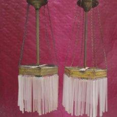 Antigüedades: PRECIOSA PAREJA DE LAMPARAS MODERNISTAS CIRCA 1900. Lote 245497435