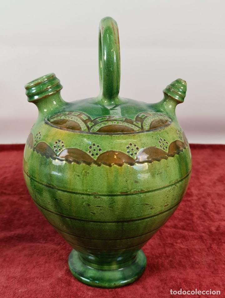 Antigüedades: PAREJA DE BOTIJOS. CERÁMICA ANDALUZA ESMALTADA Y VIDRIADA. ÚBEDA. SIGLO XX. - Foto 4 - 245528845