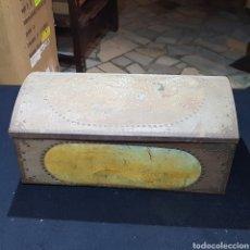 Antigüedades: COFRE DE CHAPA PARA RESTAURAR. Lote 245545555