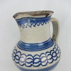Antigüedades: JARRA EN CERÁMICA AZUL ARAGONESA, POSIBLEMENTE MUEL - CON REFERENCIA BIBLIOGRÁFICA - SIGLO XVIII. Lote 245584050
