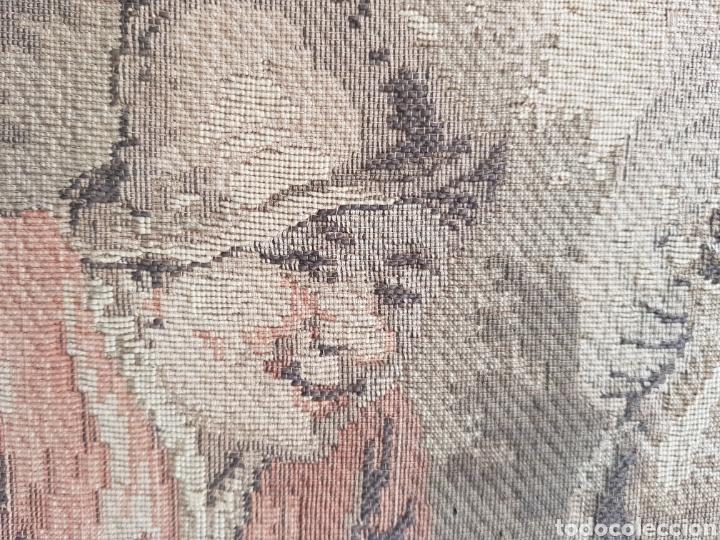 Antigüedades: Tapiz Francés , enmarcado ,principio siglo XX - Foto 2 - 245602035