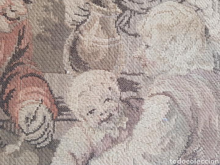 Antigüedades: Tapiz Francés , enmarcado ,principio siglo XX - Foto 3 - 245602035