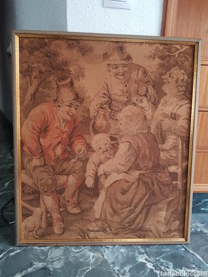TAPIZ FRANCÉS , ENMARCADO ,PRINCIPIO SIGLO XX (Antigüedades - Hogar y Decoración - Tapices Antiguos)