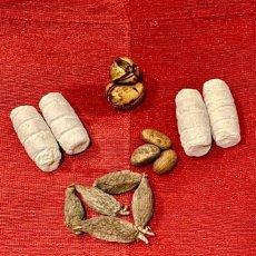 Antigüedades: OBI ABATA,OROGBO, EFUN, ATARE, IFA TRADICIONAL, SANTERIA YORUBA, MATERIALES. Lote 287904848