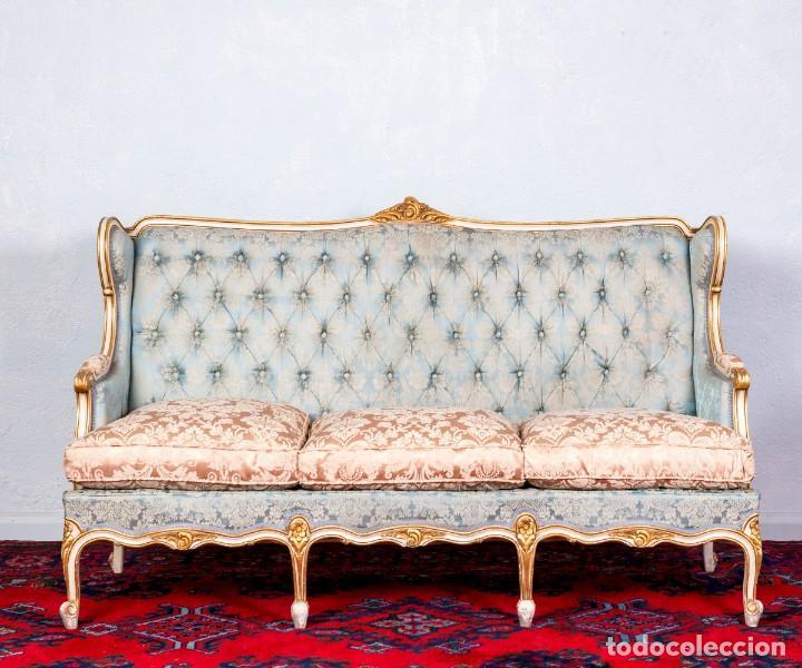Antigüedades: Conjunto De Sofá y Sillones Antiguos Luis XV - Foto 3 - 245607945