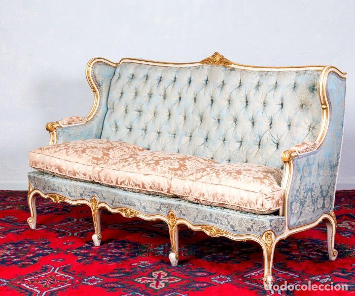 Antigüedades: Conjunto De Sofá y Sillones Antiguos Luis XV - Foto 5 - 245607945
